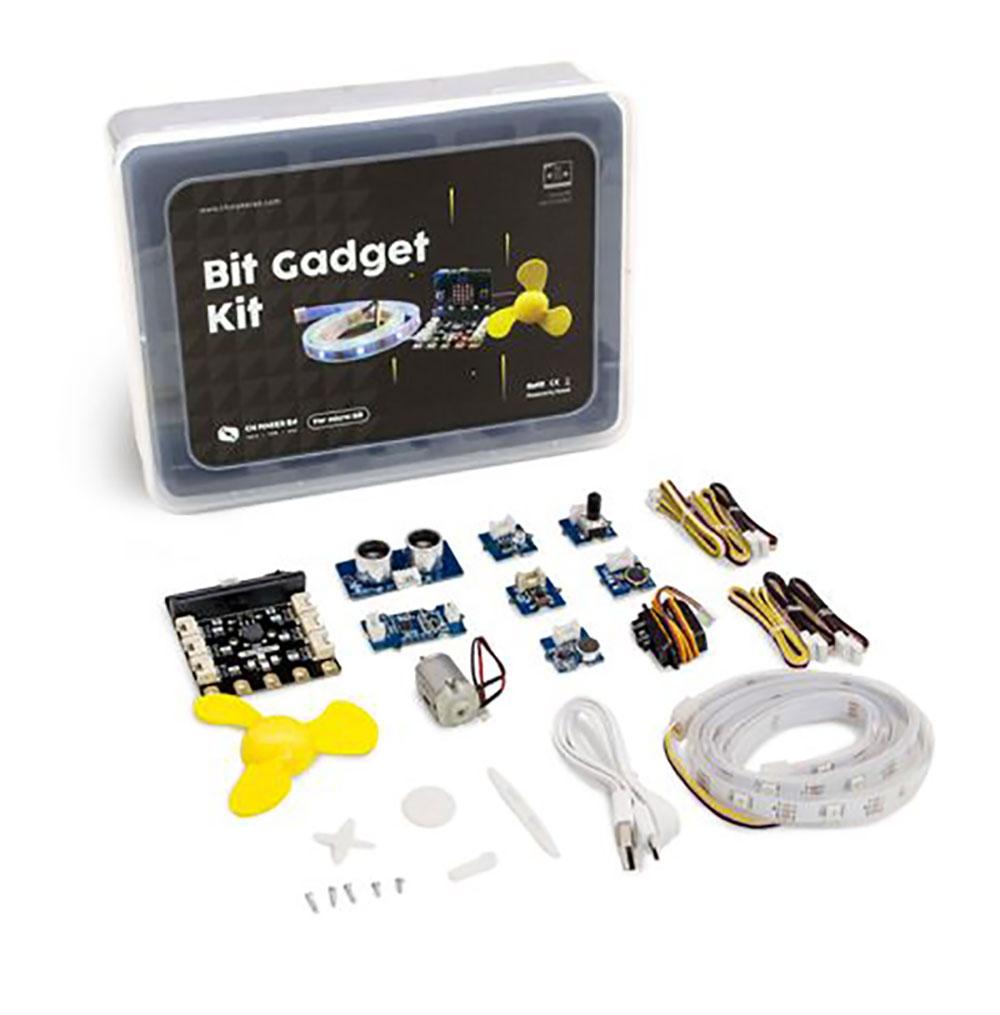 BitGadget Kit (บิต แกดเจ็ต คิต) ชุดต่อขยายสื่อฯ ไมโครบิตเพื่อการศึกษาด้านวิทยาการคอมพิวเตอร์ และการทำโครงงานดิจิทัล