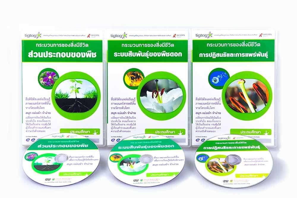 ชุด Tigtag เรื่อง พืชสีเขียว ชุดที่ 1 (3 แผ่น)
