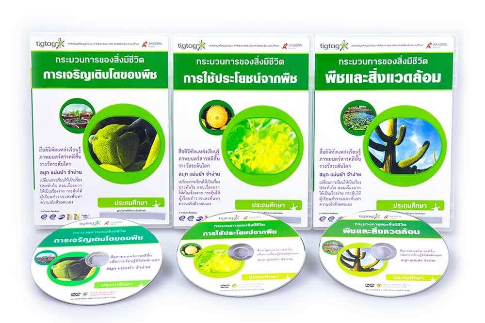 ชุด Tigtag เรื่อง พืชสีเขียว ชุดที่ 2 (3 แผ่น)