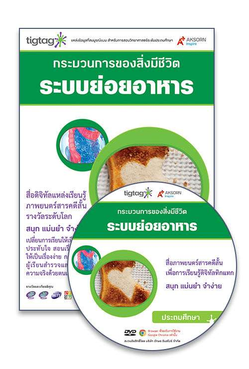 DVD-Rom Tigtag ระบบย่อยอาหาร