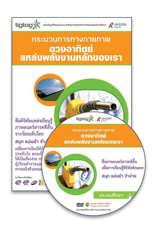 DVD-Rom Tigtag ดวงอาทิตย์แหล่งพลังงานหลักของเรา