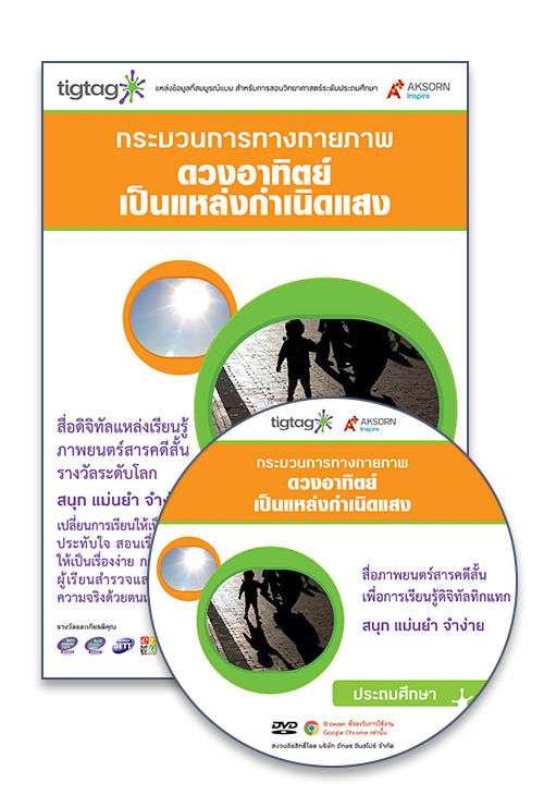 DVD-Rom Tigtag ดวงอาทิตย์เป็นแหล่งกำเนิดแสง