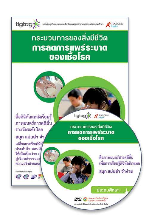 DVD-Rom Tigtag การลดการแพร่ระบาดของเชื้อโรค